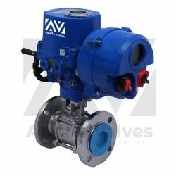 Stainless Steel Motorized SS Three Piece 2 Way Ball Valve, Model Name/Number: Av-mo-bv-SS, Size: 25 mm