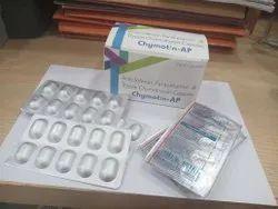 Aceclofenac100mg,Paracetamol & Typsin Chymotrypsin Capsules