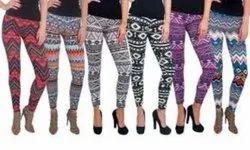 Women Printed Leggings Wholesale, Casual Wear, Slim Fit