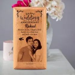 Customized Wooden Photo Frame Anniversary Gift