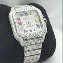 Lab grown Diamond Watches/ Moissanite Studded Iced Out Watch, EF/VVS Diamond, Wrist Watch 16