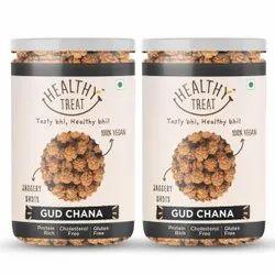 Healthy Treat Gud Chana - Jor 400 Gm - Pack Of 2 - 200gm Each