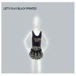 Black Printed Swimsuit