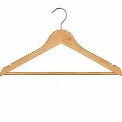 Natural Wooden Cloth Hanger, For Hanging Clothes