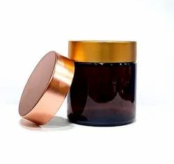 100 gm Amber Glass Jars