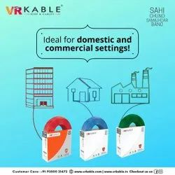 VR Kable 1.00 Sq Mm HDFR Unilayer Wire, 90m