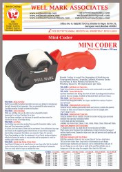Cartoon Wooden Coding Batch Coder -Mini Hand Roller / Marker 50 mm x 196 mm