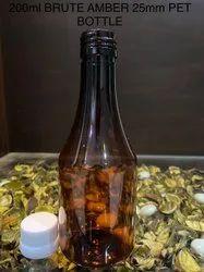 200ml Brute Amber 25mm Pet Bottle