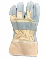 Split Canadian Leather Hand Gloves, Finger Type: Full Fingered