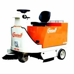 Ride On Sweeper For Parking Lots Warehouses Battery Operated