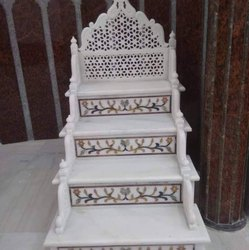Polished White Marble Masjid Minar