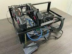 GPU Mining Rig (2x AMD RX 580 8 GB, 250 GB SSD, 8 GB RAM, Intel i3, 650 W PSU)