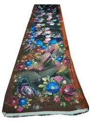 Polyester Digital Floral Printed Fabric