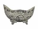 White Metal Silver Plated Fruit Bowl