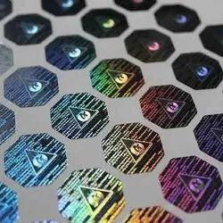 Gradient Effect Dot Matrix Hologram