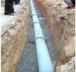 Pipeline Work Services Plastic Sewer Line Construction, in Pune