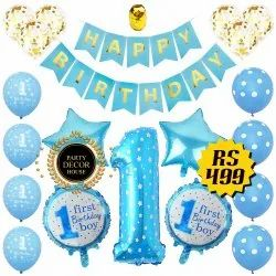 Blue First Birthday Party Decoration, In Pan India, Anywhere