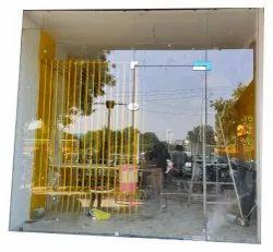 Hinged Plain Toughened Glass Door, Size: 8 X 8 feet
