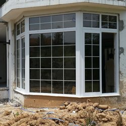 Residential Mild Steel UPVC Windows, Glass Thickness: 10 mm