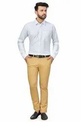 Baaamboos Plain Men's Twill Cotton Formal Shirt, Machine Wash