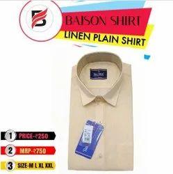 bajson shirt Linen Plain shirts, Size: M L Xl