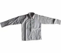 Cotton White Boys Full Sleeve School Uniform Shirt, Size: Medium