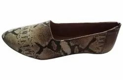 Women Slip On Ladies Camouflage Leather Belly, Size: 5