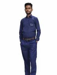 Men Dark Blue Uniform, For Office, Size: Medium