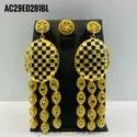Golden Plated African Nigerian Necklace Set Bridal Fashion Earring Jewel