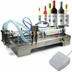 Semi Automatic Pneumatic Base Liquid Filling Machine For Hand Wash, Sanitizer