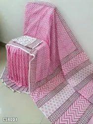 Cotton Saree Bagru Print