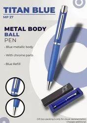 Metal Body Ball Pen Titan Blue