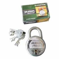 With Key Normal Jalaram 8 Levers Double Pad Lock, Padlock Size: 65 mm, Chrome