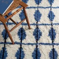 Handmade Moraccon Woollen Carpet, Rectangular, Flokati