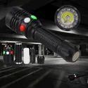 Tri Color LED Signal Torch Rechargeable