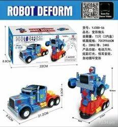 Plastic Robot Deform Truck Toy