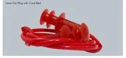 Corded  Swim Ear Plugs Red
