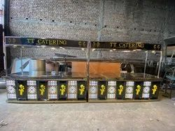 Stainless Steel Eight Feet Catering Counter Setup Manufacturing by Aarvik Industries