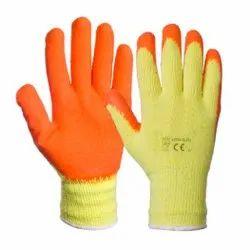 Frontline Crinkle Latex Coated Gloves