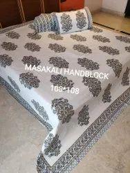 Handblock King Size Bedsheet