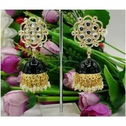 Party Jhumkis Copper Imitation Earring