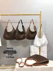 Brown Ladies Pu Leather Handbag, For Daily Use, Gender: Women