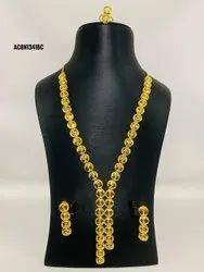 Classic Designer 1 Gram Gold Forming Necklace with Earring & Ring