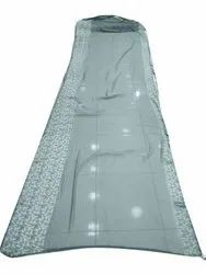 Party Wear Border 3D Patta Saree, 6 m (with blouse piece)