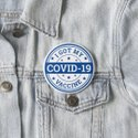 Covid -19 Vaccinated Pin Round Button Badges