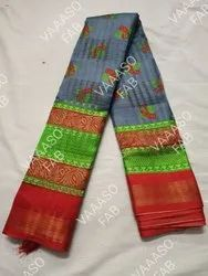 VAAASO CREATION CASUAL AND PARTY WEAR FANCY BORDER Sarees, 6.3 m (with blouse piece)