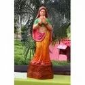 Indian Lady Welcome Statue In Golden Colour
