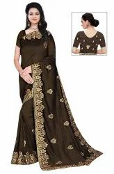 Janasya Women's Multicolor Vichitra Silk Embroidered Saree With Blouse Piece(Maahi-Pack Of 5)