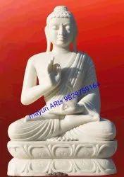 6.5 Feet Mable Buddha Statue