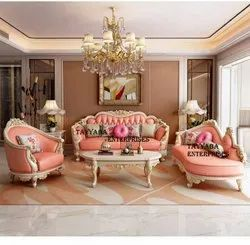 Beautiful Handwork Sofa Set + Couch + Center Table Living Room Furniture